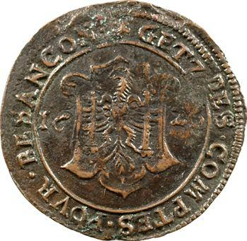 Besançon, jeton des services de comptes de la cité, 1626