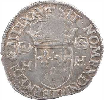 Henri III, teston 1er type, sans POL, 1575 Bordeaux