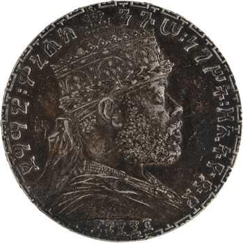 Éthiopie (Empire d'), Ménélik II, birr, EE 1892 (1899) Paris