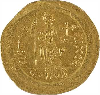 Justin II, solidus, Constantinople, 5e officine, 575-578