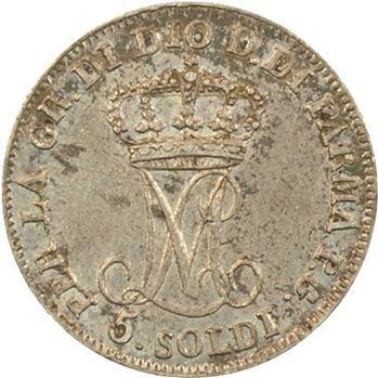Italie, Parme (duché de), Marie-Louise, 5 soldi, 1815 Milan