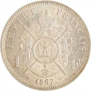 Second Empire, 1 franc tête laurée, 1867 Bordeaux