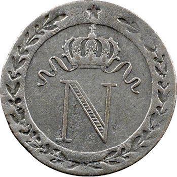 Premier Empire, 10 centimes à l'N couronnée, 1808 Lille