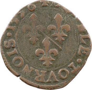 Dombes (principauté de), Henri II, double tournois 4e type, 1596 Trévoux