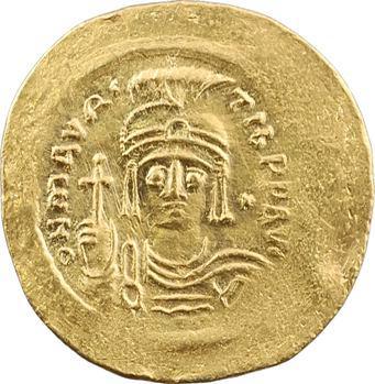 Maurice Tibère, solidus de poids léger, Constantinople, 6e officine, 582-602