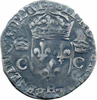 Charles IX, demi-teston 2e type, 1566 La Rochelle