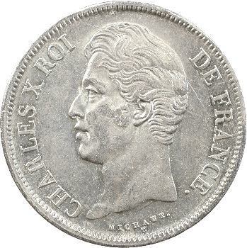 Charles X, 5 francs 2e type, 1830 Lille