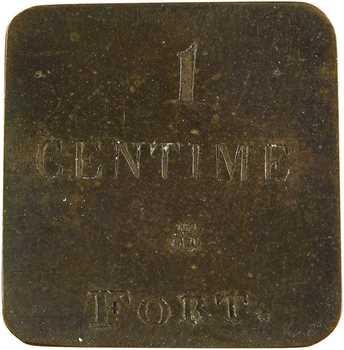 Louis-Philippe Ier, poids monétaire de 1 centime fort, s.d. (c.1835)