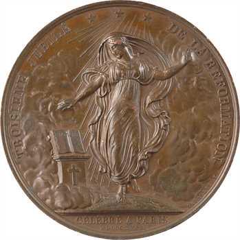 Louis XVIII, Martin Luther et le 3e jubilé de la Réformation, par Depaulis, 1817 Paris