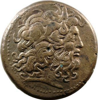 Egypte, Ptolémée IV, grand bronze, Alexandrie, 221-205 av. J.-C.
