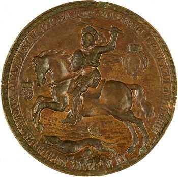 Grande Bretagne, Charles II défenseur de la Foi (sceau), fonte, 1653