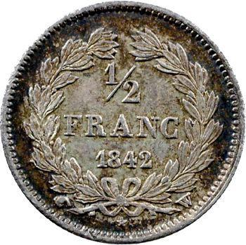 Louis-Philippe Ier, 1/2 franc, 1842 Lille