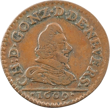 Ardennes, Charleville (principauté de), Charles Ier, denier tournois 1er type, 1609 Charleville