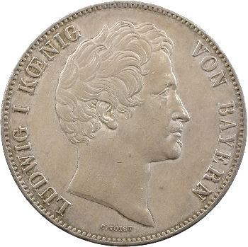Allemagne, Bavière (royaume de), Louis Ier, double thaler, 1843 Munich