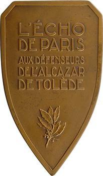 Espagne, Aux défenseurs de l'Alcázar de Tolède par R. Bénard, s.d. (c.1937) Paris
