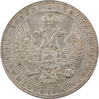 Pologne (occupation russe), Nicolas Ier, 3/4 de rouble, 1840 Varsovie