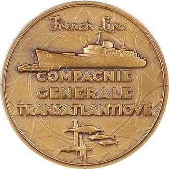IVe République, Compagnie Générale Transatlantique (C.G.T.), le paquebot Flandre, par Renard, s.d. Paris
