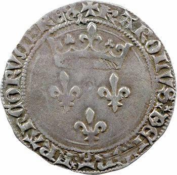 Charles VII, gros de Roi, 1re émission, Lyon