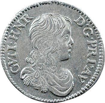 Orange (principauté d'), Guillaume-Henri, douzième d'écu, 1661