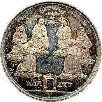 Vatican, Pie XI, médaille annuelle, les six Saints, 1925