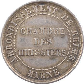 Marne, Reims, jeton de la Chambre des Huissiers, s.d. (1832-1841) Paris