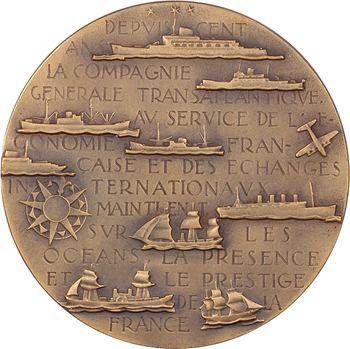 IVe République, centenaire de la Compagnie Générale Transatlantique (C.G.T.), par Renard, 1855-1955 Paris