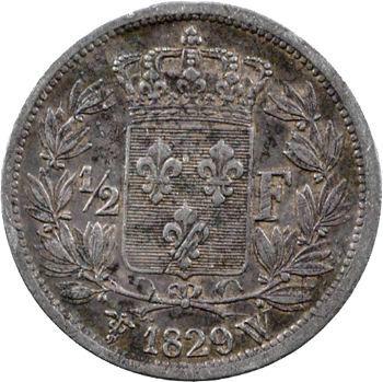 Charles X, 1/2 franc, 1829 Lille