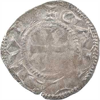 Lyon (archevêché de), anonymes, denier (besant au-dessus de la croix), c.1200-1260