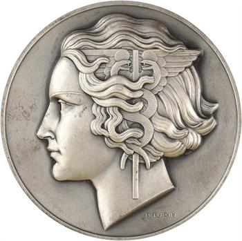 Turin (P.) : 75e anniversaire de la Société Générale, en argent, 1864-1939 Paris