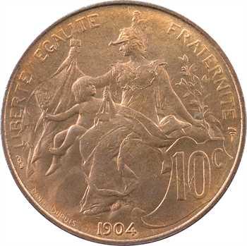 IIIe République, 10 centimes Daniel-Dupuis, 1904 Paris