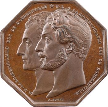Louis-Philippe Ier, assurances la Concorde, par Bovy, 1842 Paris