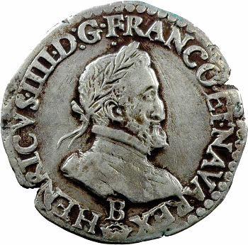 Henri IV, demi-franc, 1603 Rouen