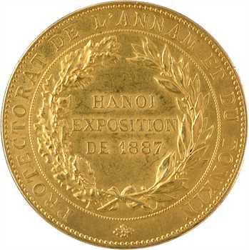 Annam-Tonkin, médaille en or, exposition d'Hanoï, Champagne Cosmos à Aÿ, 1887 Paris