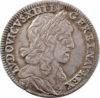 Louis XIII, quart d'écu premier poinçon, 1642 Paris