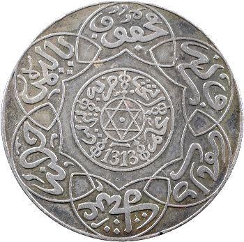 Maroc, Abdül Aziz I, 10 dirhams, AH 1313 (1895) Paris