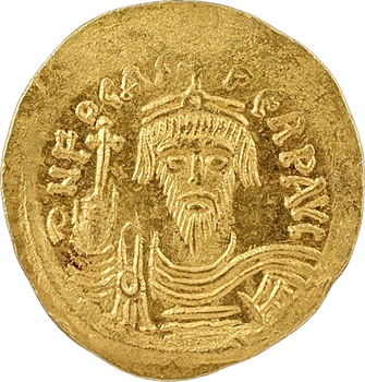 Phocas, solidus, Constantinople, 7e officine, 607-610