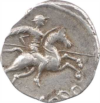 Voconces et Vallée du Rhône, denier au cavalier, DVRNACOS/AVSCRO, c.75 av. J.-C