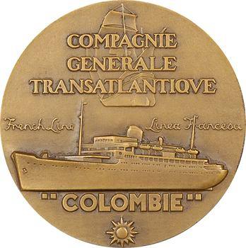 IVe République, Compagnie Générale Transatlantique (C.G.T.), le paquebot Colombie, par Renard, s.d. Paris
