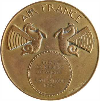 Aviation : le Réseau Aérien (Air France) à Paul Codos, 1000e traversée de l'Atlantique Nord, par Poisson, 1957 Paris