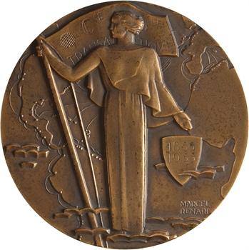 IVe République, centenaire de la Compagnie Générale Transatlantique (C.G.T.), par Renard, dans sa boîte, 1855-1955 Paris