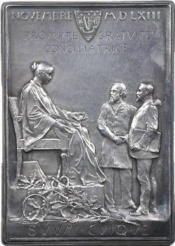 Roty (L.-O.) : plaque attribuée au banquier Heine, 1893-1894