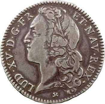 Louis XV, demi-écu au bandeau, 1741 Rouen