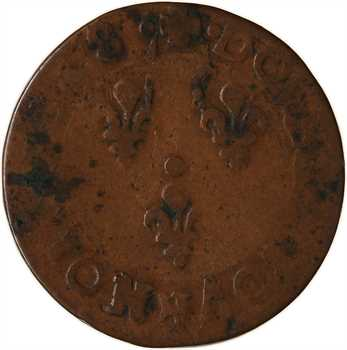 Louis XIII, double tournois 13e type, 1638 Bordeaux