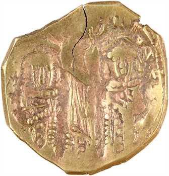 Jean V Paléologue et Jean VI Cantacuzène, règne conjoint, hyperpyron (scyphate), Constantinople, 1347-1353