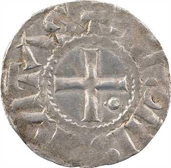 Langres (évêché de), denier immobilisé au nom de Louis IV ou V (besant 4), c.950-1000