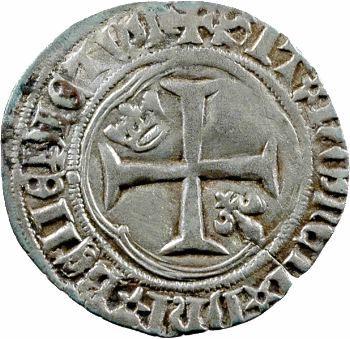 Charles VII, petit blanc à la couronne, 4e émission, Rouen