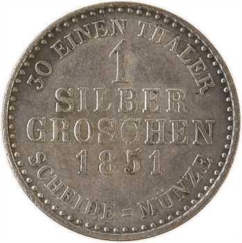 Allemagne, Hesse-Cassel (principauté de), Fréderic-Guillaume Ier, 1 gros, 1851 Cassel