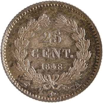 Louis-Philippe Ier, 25 centimes, 1848 Paris