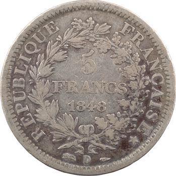 IIe République, 5 Francs Hercule, 1848 Lyon