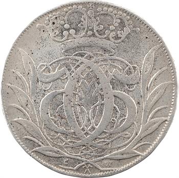 Danemark (royaume de), Christian V, 4 mark (couronne), 1693 Glückstadt